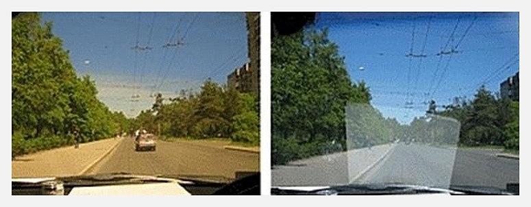 отражение на торпеде хорошо блокируют очки водителя