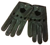 Авто перчатки из кожи оленя с длинными пальцами