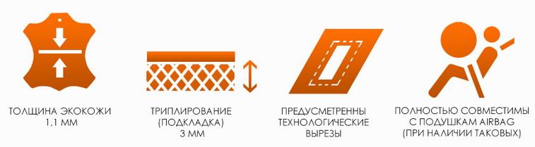 Чехлы сидений Lada Kalina от 2013 (хетчбек и универсал) авточехлы экокожа
